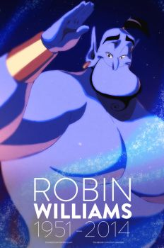 Tribute to Robin Williams by moxie2D
