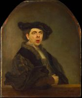 Rembrandt Self Portrait Hijacked by Mr Bean by RodneyPike