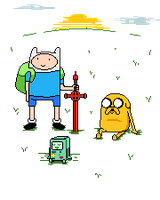 Adventure Time Pixel by chasz-manequin