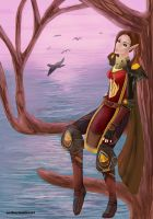 Kiradel - Blood Elf by Anthuriumheart