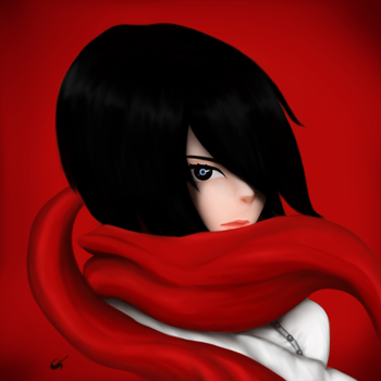 Red Scarf by xiaommpong