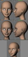 Joan head detail by BlenderFan