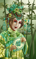 Cixi of China by iKiska