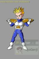 SSJ Kid Gohan (namek saga) V3 what if character by RyoGenji