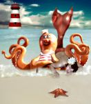 The Mermaid and the Octopus by kimsol