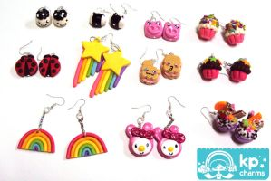 cute earrings by KPcharms