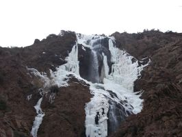 Ogden Canyon waterfall in winter by Raptorguy14