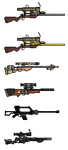 sniper rifle pixels by jazzmedic