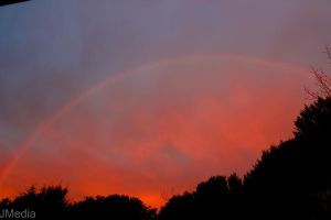 Rainbow on fire by JonoMphotography