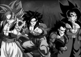 Black Warriors SSJ4 by Dairon11