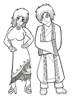Chinese New Year Costumes by roselovehunt