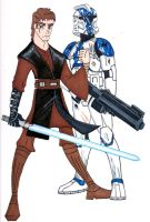 Commander Appo and General Skywalker by Spartan-055