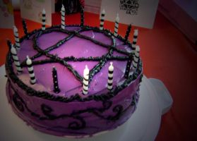 Heartagram cake. by IncompleteAllAlone