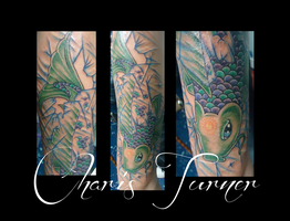 Koi Tattoo 1 (Finished Piece) by Metacharis