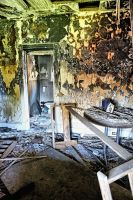 Burned Out:  Bathroom View by basseca