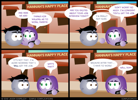 SC349 - Walking Belle to Work by simpleCOMICS