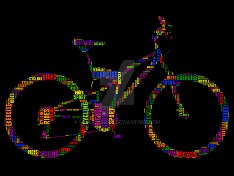 Bicycle 3 Typography by somsongart