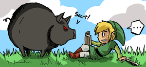 Link vs Pig by girldirtbiker