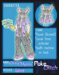 POKEGLITCH OC Ozzy aka Mystic (APP) by HorrorViewed