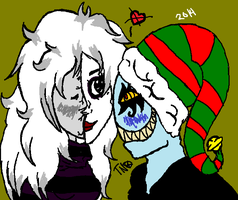 Insanity And Doll do something this holiday by Dysfunctional-H0rr0r