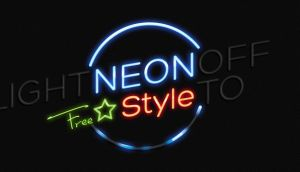 Free Neon Text Effect Psd by Pixeden