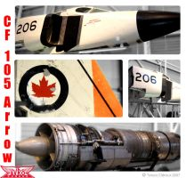 Avro Canada CF-105 Arrow by T4ny4