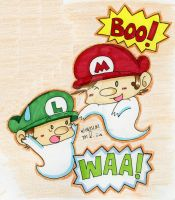 Ghosts Baby Mario and Ghost Baby Luigi by Sagojyousartpage