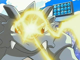 the Rhydon We're It...!. Lightningrod activating by PokemonOnlineGames