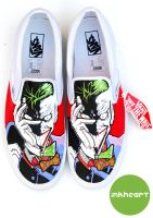 Joker Custom Vans by felixartistixcouk