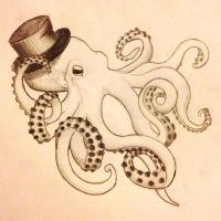 Top Hat Octopus by LoveDontWait