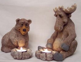 Bear and Moose by BfstudiosLLC