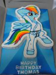 Karate Rainbow Dash Cake! by ls-event