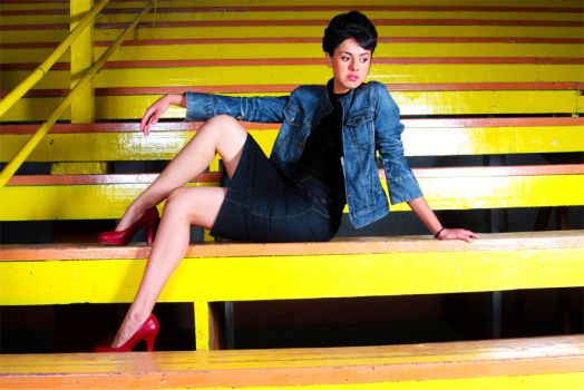 Yellow steps by MrAlarcon