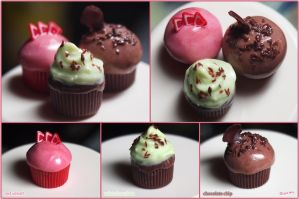 Miniature Cupcakes by typochan