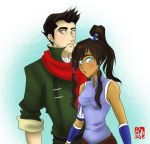 Korra and Mako by applejaxshii