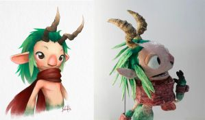 Faun puppet by nary-san
