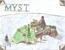 Myst Island As Seen From Above by MystressOfDarkness13