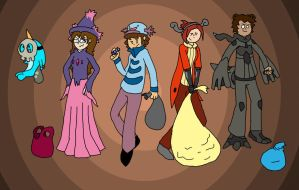 Halloween Costumes by Kame-Ghost