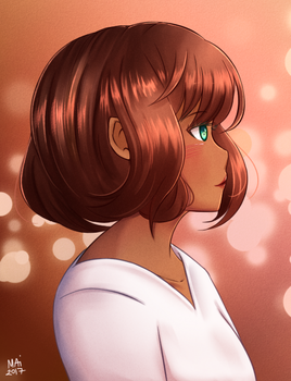 [oc] shimmering lights by maiscribble