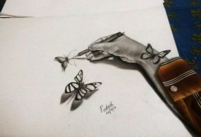 Butterflies come alive 3D by rak78374