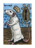 Rat King ACEO by AshleighPopplewell