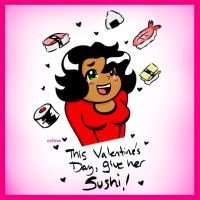 Sushi Love by ChibiCelina