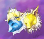Vaporeon and Jolteon by Emberguard