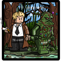Lego John Constantine and Swamp Thing by Catanas192
