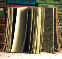 Leather Journal Interior by gildbookbinders