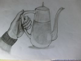 Hand with Teapot by SquigglyButterfly