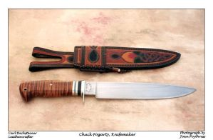 Fogarty Spear Point Camp Knife by hillbillybladesmith