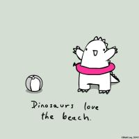 Dinosaur Facts - Beach by DeathByStraws