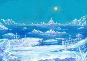 The Frozen Land - Ice Cap by Liris-san