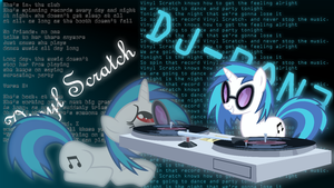 Vinyl Scratch/DJ PON3 Wallpaper by Kingmush360